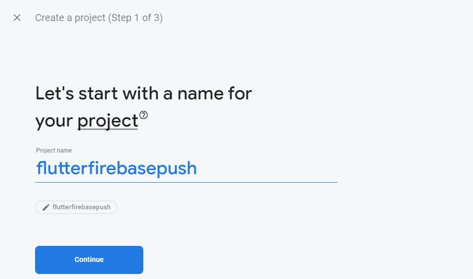 new firebase app