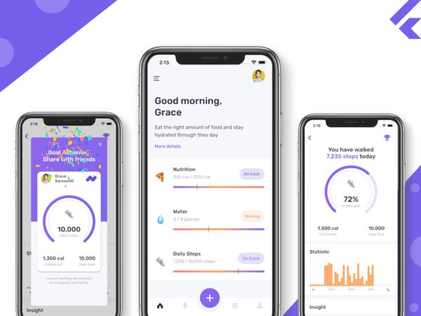 flutter fitness app template